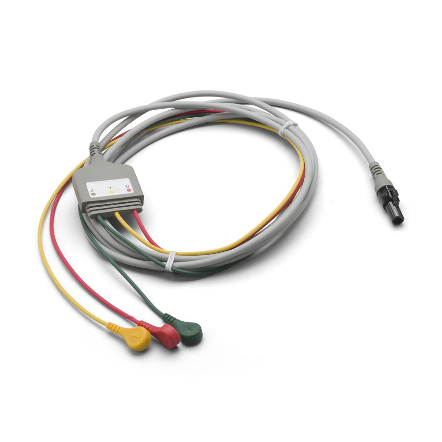 008-0880-01: Câble ECG, 3 dérivations connectées, rupture, IEC, 1O '