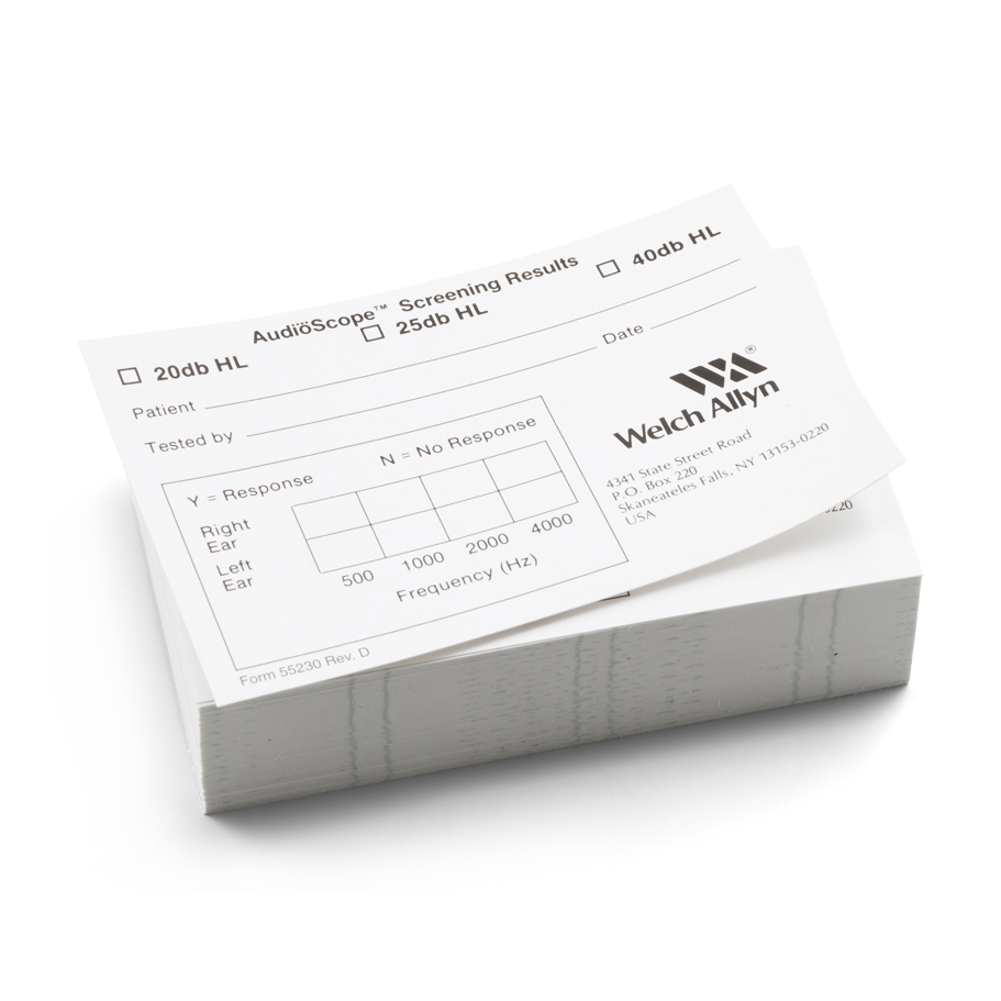 55230: AudioScope 3 Recording Form (box of 1,000)