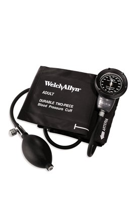 DS48-11CB: DS48 Pocket Aneroid Sphygmomanometer w/ Size-11 Adult, Reusable (Two Piece) Cuff