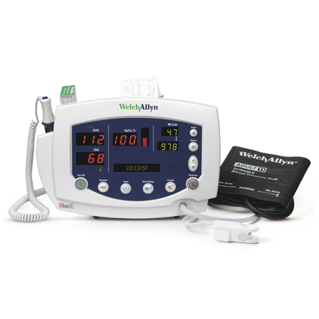 53STP-E1: Vital signs monitor 300 Series, NIBP, Masimo Pulse oximetry, SureTemp Plus Thermometer, Printer