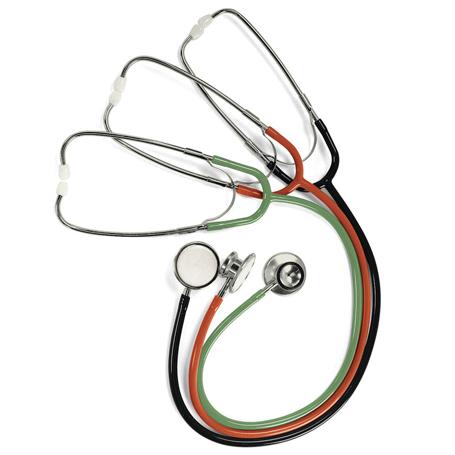 Stéthoscopes à tête double légers