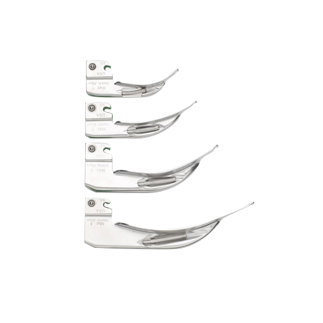 Fiber Optic laryngoscope blades, Macintosh, Mac