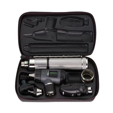 97110-MC: Diagnostic Set with MacroView, Coaxial Ophth, NiCad Handle, Nasal Illuminator and Hard Case