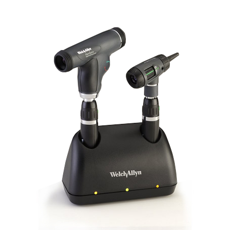 71811-MPS: Universal Charger Desk Set with MacroView Otoscope, PanOptic Ophthalmoscope, Lithium Ion smart handles