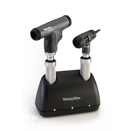 71811-MP: Universal Charger Desk Set with MacroView Otoscope, PanOptic Ophthalmoscope, NiCad handles