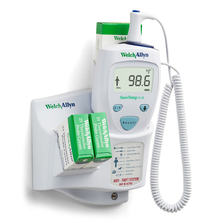 SureTemp Plus 690 Electronic Thermometer, Wall Mount, Oral Probe with Oral Probe Well