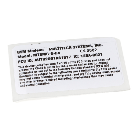 9050-059-05 : Label Reg, Mt GSM F4