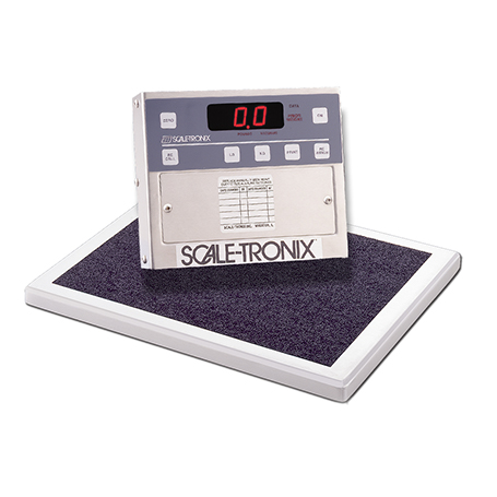 5102-X-X: 5102 Physician's Stand-On Scale with standard weight (lb/kg) (X) and battery power