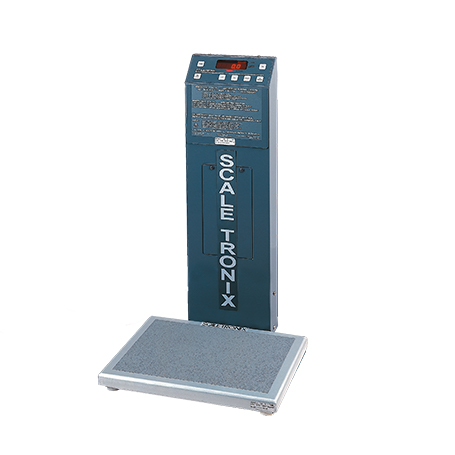 5122-X-X: 5122 Low-Profile Stand-On Scale with standard weight (lb/kg) (X) and battery power