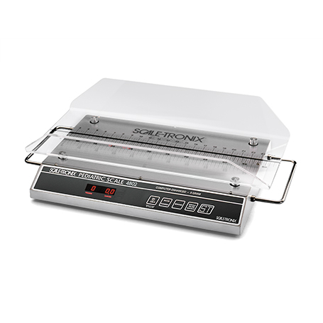 4802D-XX-XB: 4802D Pediatric Scale / Infant Scale with standard cradle (X), standard accuracy (X) and standard weight (lb/kg) (X)