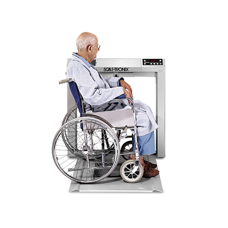 6202-KX-X: 6202 Stow-A-Weigh Wheelchair Scale with Kg only (K), data port (X) and battery power