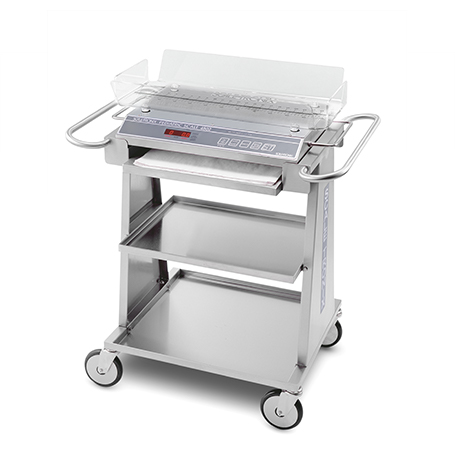 48800-1: Mobile Weighing Cart with Tissue Dispenser