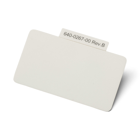 640-0267-00: Label, Blank (Covers SS Front Panel Printer Bottons On Those Monitors w/o Printer)
