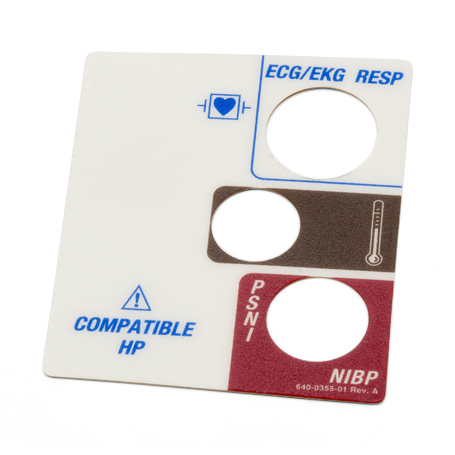 640-0355-01: Label, Left Side Panel, 2X2/Resp., HP, Universal