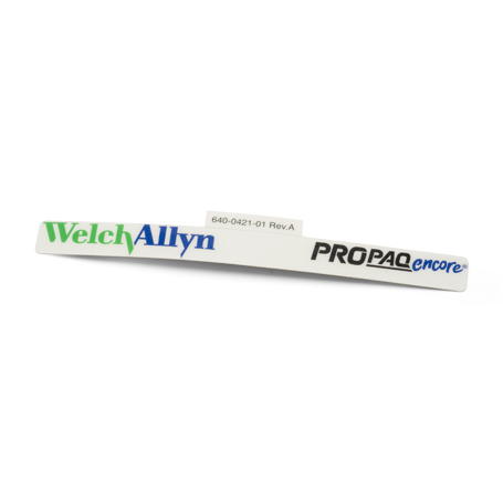 640-0421-01: Label, Logo, Welch Allyn, Propaq Encore