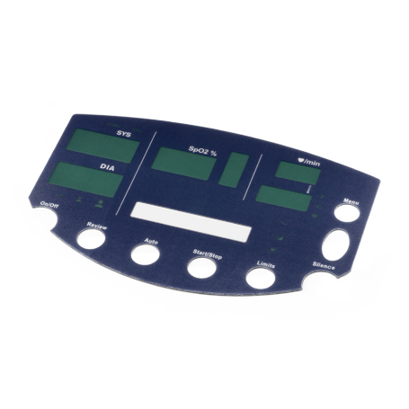 680-0092-01: Overlay Front Panel, SP02 Temp, English Vs